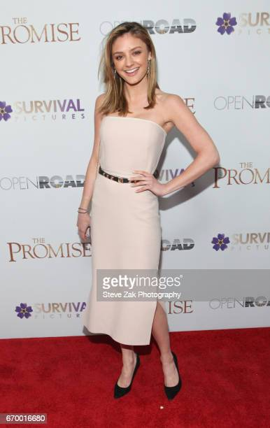 Christine Evangelista attends 'The Promise' New York screening at The Paris Theatre on April 18 2017 in New York City