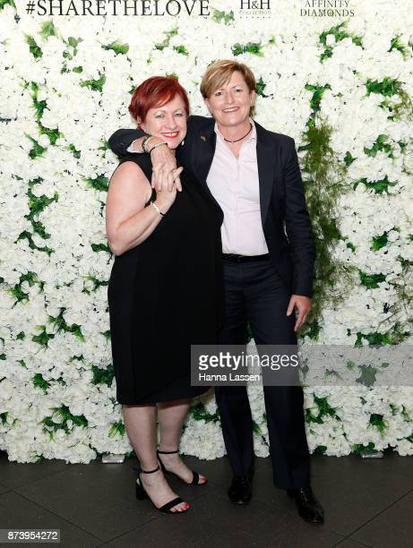 Christine Forster and Virginia Edwards pose ahead of the Affinity Diamonds HH Collection Launch on November 14 2017 in Sydney Australia