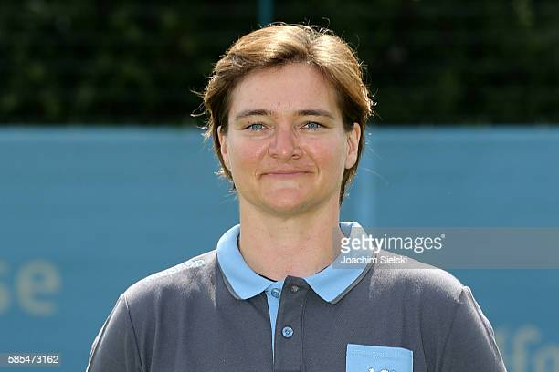 Christine Forster poses during the official team presentation of TSV 1860 Muenchen at Trainingsgelaende on July 22 2016 in Munich Germany