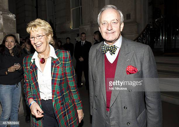 Christine Hamilton and Neil Hamilton are seen leaving the Langham hotel on October 22 2014 in London England