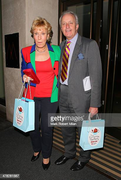 Christine Hamilton and Neil Hamilton at the May Fair hotel on March 12 2014 in London England