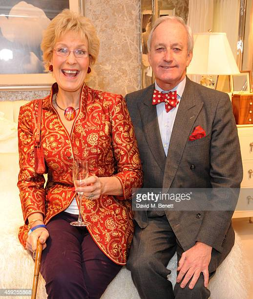 Christine Hamilton and Neil Hamilton attend the launch of Nicky Haslam's new book 'A Designer's Life' at Ralph Lauren on November 19 2014 in London...