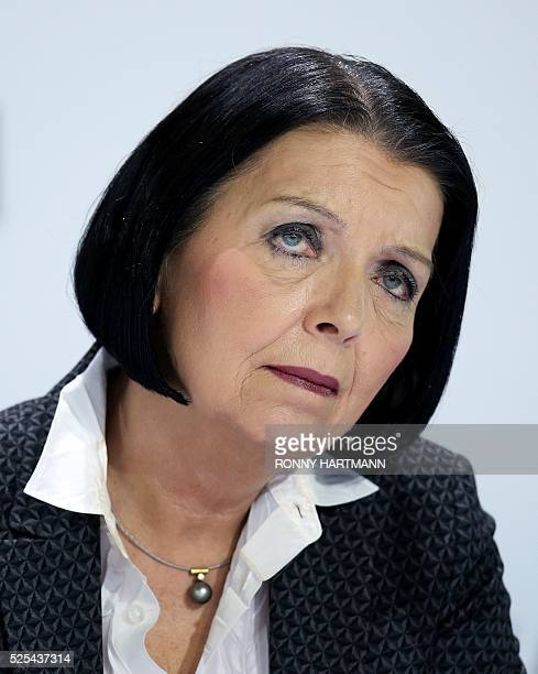 Christine HohmannDennhardt board member for integrity and legal affairs of German carmaker Volkswagen attends the company's annual press conference...
