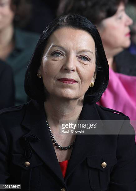 Christine HohmannDennhardt judge of the German Constitutional Court attends the donation ceremony for the peace prize of the German Publishers and...