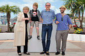 Christine Kain Markus Schleinzer David Rauchenberger and Michael Fuith at the photo call for 'Michael' during the 64th Cannes International Film...