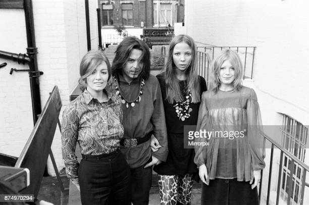 Christine Keeler David Bailey Penelope Tree and Marianne Faithfull at a party in a club on the Kings Road Chelsea to launch David Bailey's book of...