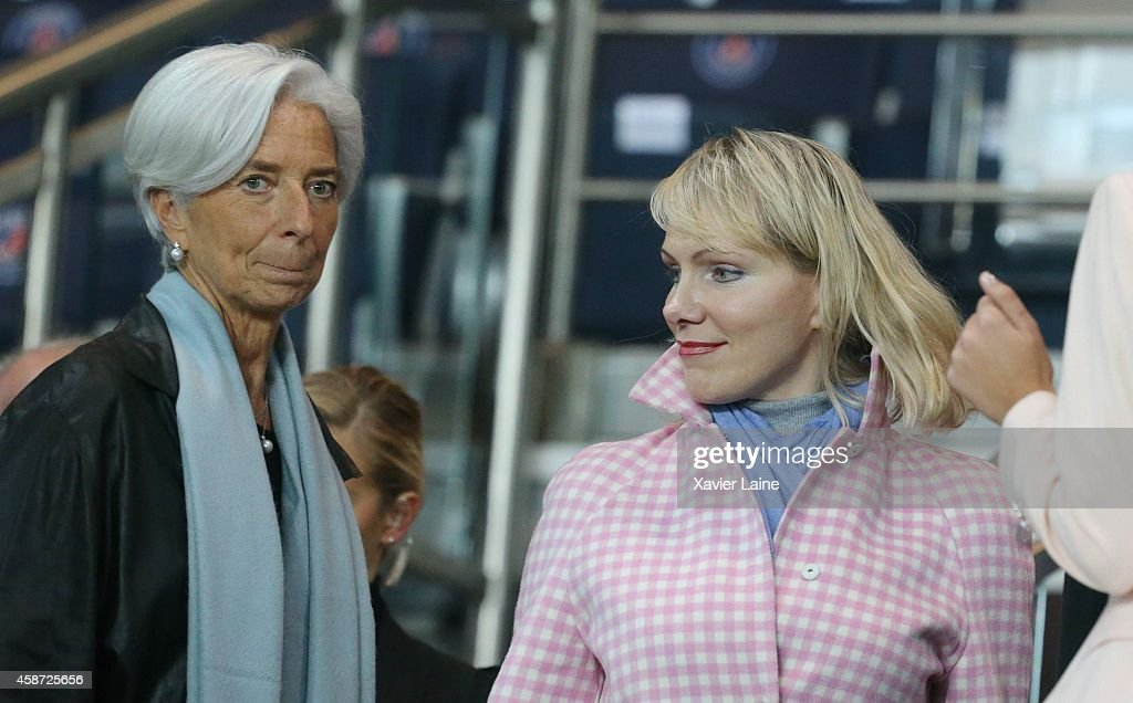 Christine Lagarde and Margarita Louis-Dreyfus attend the French Ligue 1 between Paris Saint-Germain FC and Olympique de Marseille at Parc Des Princes on November 09, 2014 in Paris, France.