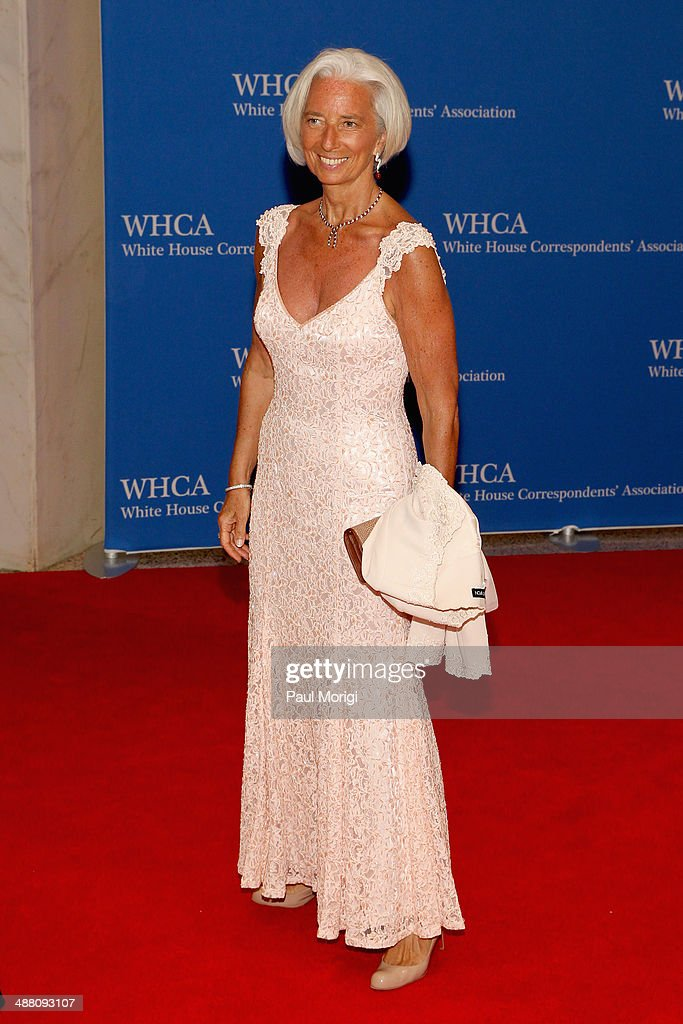 Christine Lagarde attends the 100th Annual White House Correspondents' Association Dinner at the Washington Hilton on May 3, 2014 in Washington, DC.