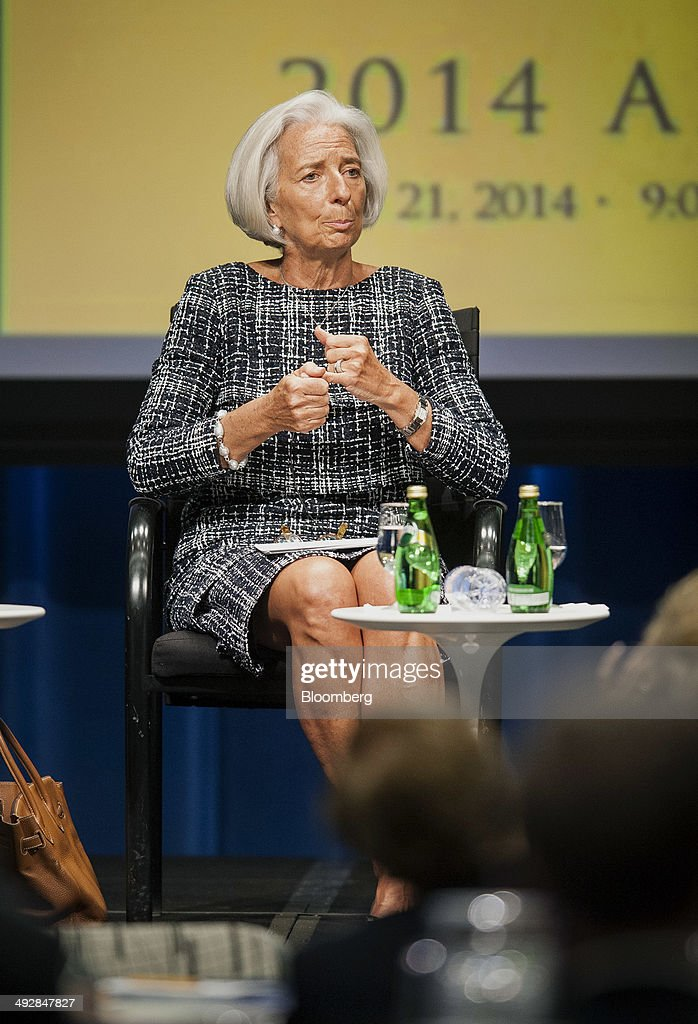 Christine Lagarde, managing director of International Monetary Fund (IMF), speaks during the 31st Annual Meeting of the Bretton Woods Committee at the World Bank Headquarters in Washington, D.C., U.S., on Wednesday, May 21, 2014. This year's meeting brings together leaders and experts from business and civil society to consider the value and changing nature of multilateralism in an age of austerity. Photographer: Pete Marovich/Bloomberg via Getty Images