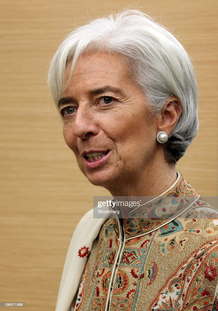 Christine Lagarde, managing director of the International Monetary Fund (IMF), speaks during a news conference in Kuala Lumpur, Malaysia, on Wednesday, Nov. 14, 2012. Lagarde today kicked off a three-country tour of Southeast Asia, which is thriving after emerging from turmoil more than a decade ago. Photographer: Goh Seng Chong/Bloomberg via Getty Images