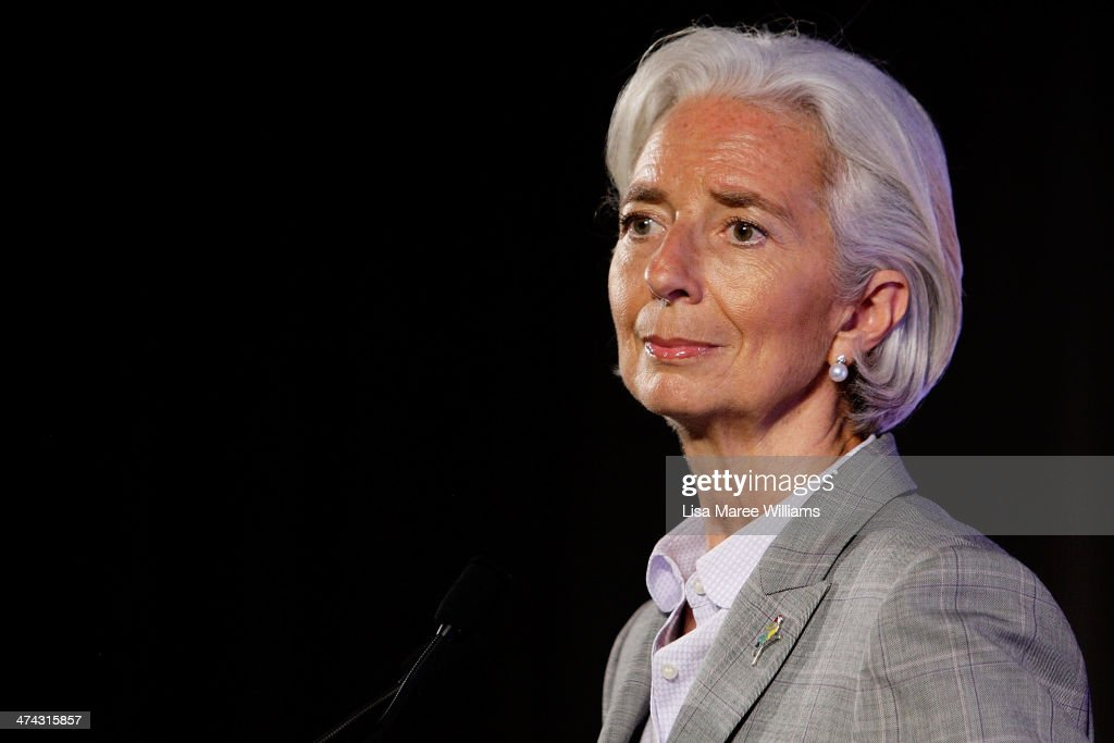 <a gi-track='captionPersonalityLinkClicked' href=/galleries/search?phrase=Christine+Lagarde&family=editorial&specificpeople=566337 ng-click='$event.stopPropagation()'>Christine Lagarde</a>, Managing Director of the International Monetary Fund speaks to the media at the close of the G20 Finance Ministers and Central Bank Governors meetings on February 23, 2014 at The Intercontinental in Sydney, Australia. The G20 is two days of meeting that brings together Finance Ministers and Bank Governors from around the world, in a forum aimed at economic co-operation and decision making.