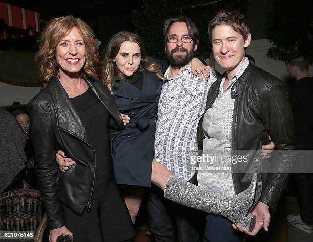 Christine Lahti Mae Whitman Martin Starr and Director Logan Kibens attend the 'Operator' Premiere Party on November 3 2016 in Los Angeles California