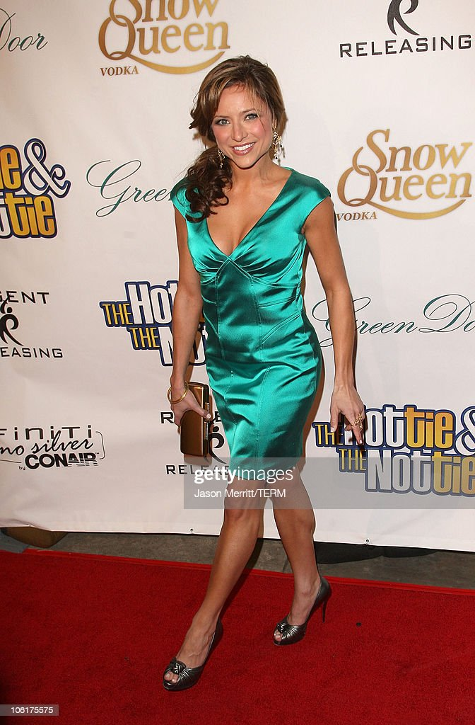 Christine Lakin arrives to the Los Angeles Premiere of 'The Hottie The Nottie' at the Egyptian Theater on February 4 2008 in Hollywood California
