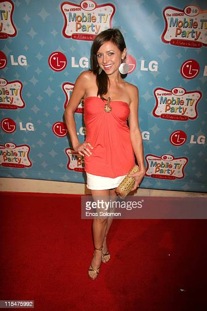 Christine Lakin during LG Mobile TV Party at Stage 14 Paramount Studios in Hollywood CA United States