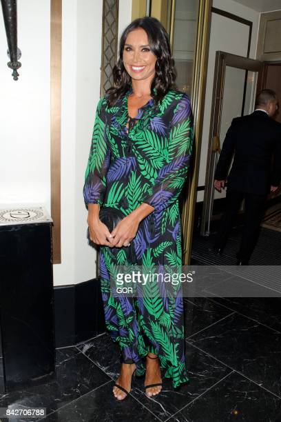 Christine Lampard at the TV Choice awards at the Dorchester hotel on September 4 2017 in London England