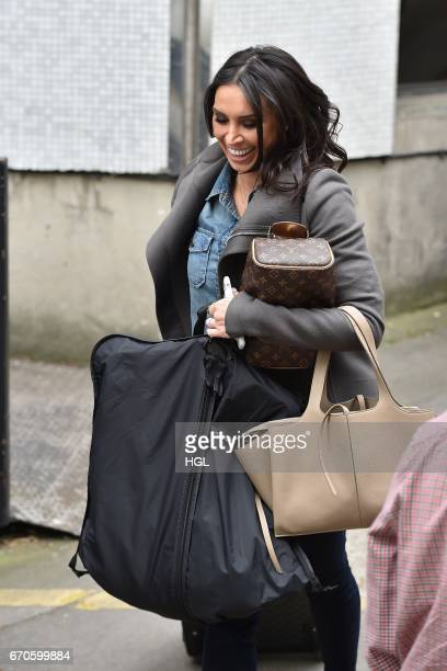 Christine Lampard seen at the ITV Studios on April 20 2017 in London England