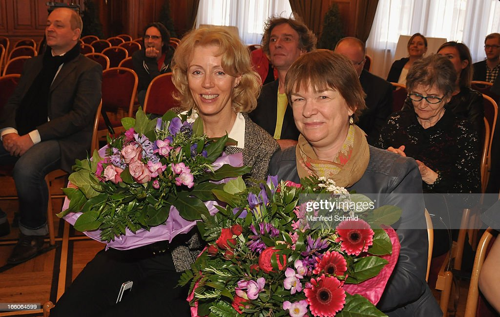 Christine Last and Caterina Last attend the award ceremony of the 'Goldenes Ehrenzeichen fuer Verdienste um das Land Wien' given in the Rathaus Wien on April 8, 2013 in Vienna, Austria.