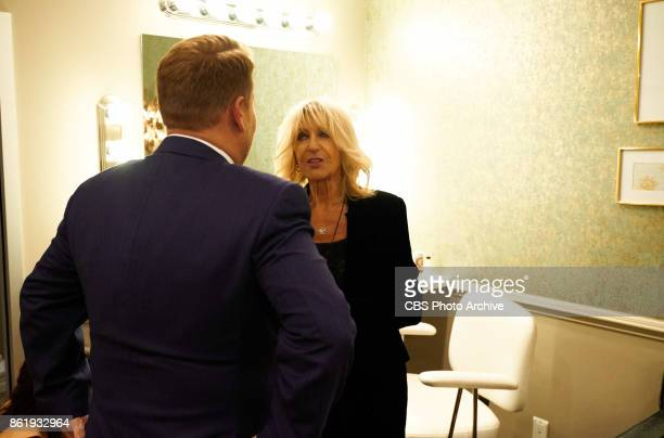 Christine McVie chats in the green room with James Corden during 'The Late Late Show with James Corden' Thursday October 12 2017 On The CBS...