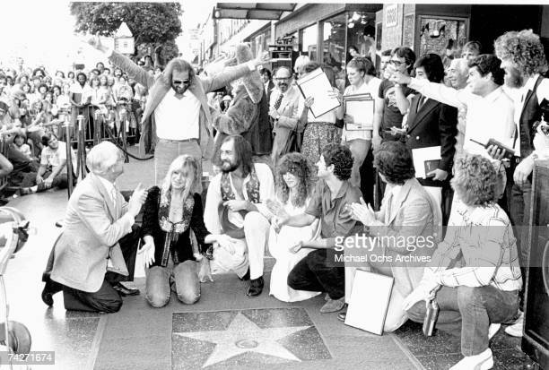 Christine McVie John McVie Mick Fleetwood Stevie Nicks and Lindsay Buckingham of Fleetwood Mac receive their star on the Hollywood Walk of Fame on...