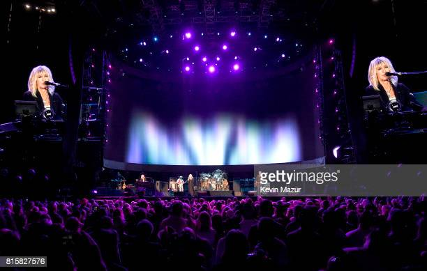 Christine McVie John McVie Stevie Nicks Mick Fleetwood and Lindsey Buckingham of Fleetwood Mac perform onstage during The Classic West at Dodger...