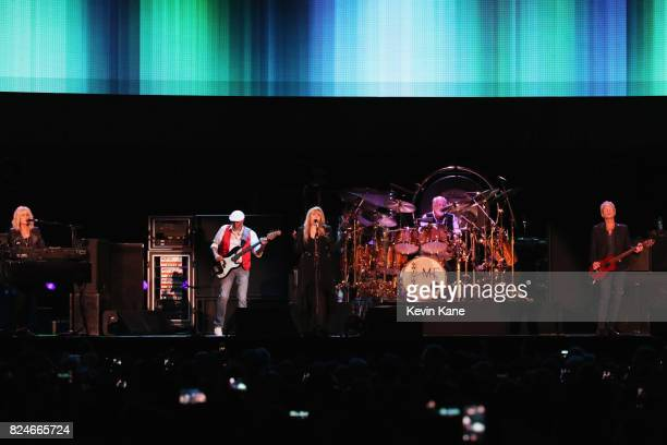 Christine McVie John McVie Stevie Nicks Mick Fleetwood and Lindsey Buckingham of Fleetwood Mac perform onstage during The Classic East Day 2 at Citi...