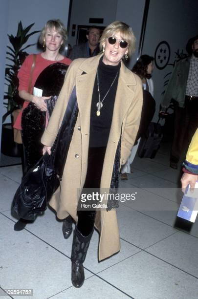 Christine McVie of Fleetwood Mac during Fleetwood Mac Leaving LAX for Bill Clinton's Inaugural Gala January 17 1993 at Los Angeles International...