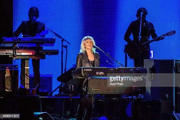 Christine McVie of Fleetwood Mac performs at the Tacoma Dome on November 20 2014 in Tacoma Washington