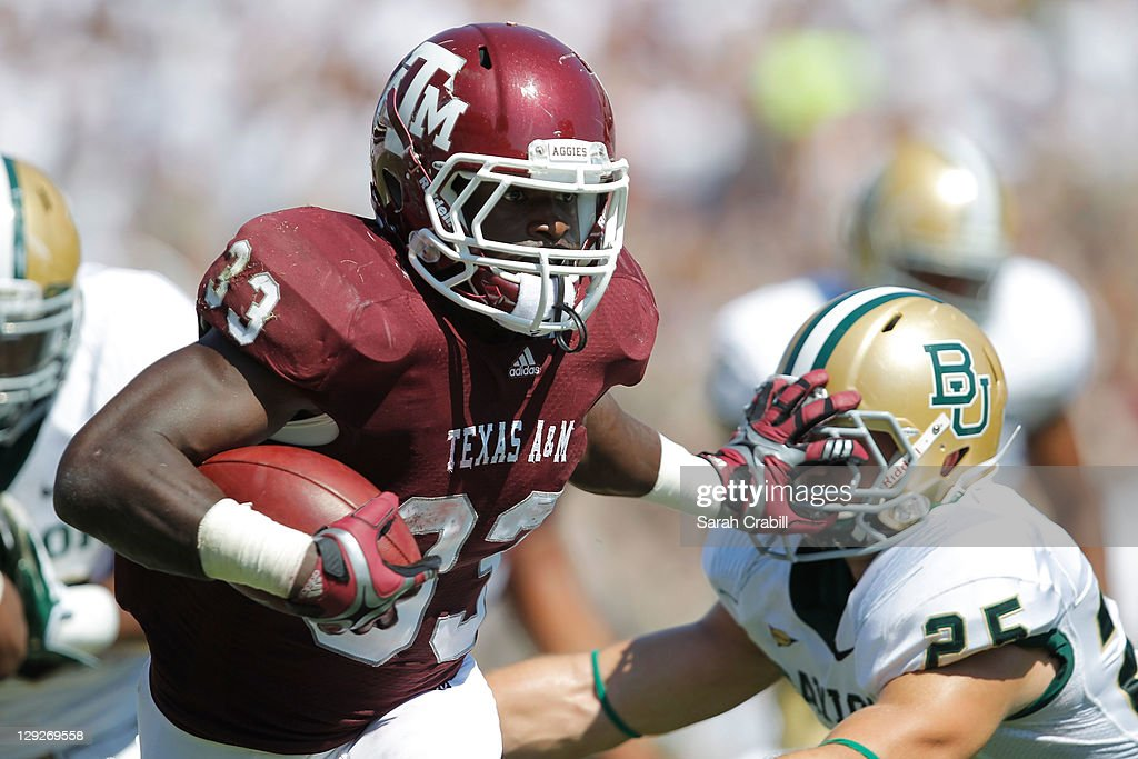Christine Michael #33 of the Texas A&M Aggies runs during a game against the Baylor Bears at Kyle Field on October 15, 2011 in College Station, Texas.