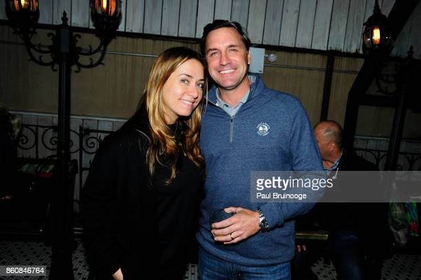 Christine Moll and Paul Reagan attend Espolòn Tequila Hosts Celebration in Partnership with Ai Weiwei Exodus Exhibit at Hotel Chantelle on October 12...