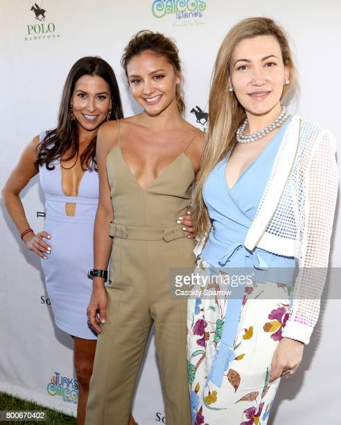 Christine Montanti Christine Evangelista and Devorah Rose attend the 2017 Polo Hamptons at Southampton Polo Club on June 24 2017 in New York City