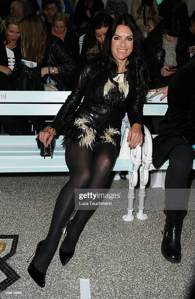 Christine Neubaue attends Marc Cain Autumn/Winter 2013/14 fashion show during Mercedes-Benz Fashion Week Berlin at Hotel de Rome on January 17, 2013 in Berlin, Germany.