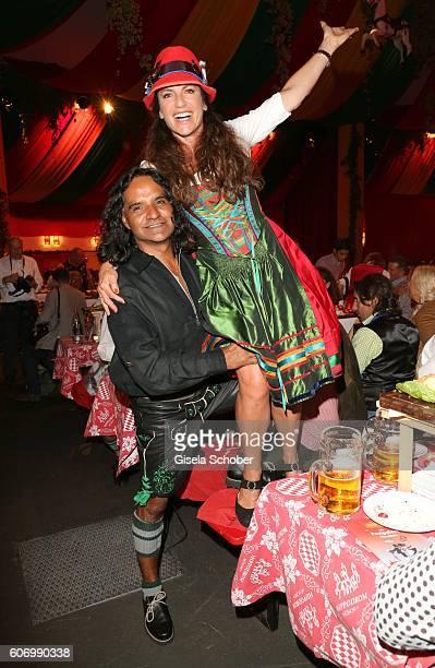 Christine Neubauer and her boyfriend Jose Campos during the Birgitt Wolff's PreWiesn party ahead of the Oktoberfest at Hippodrom in Postpalast on...