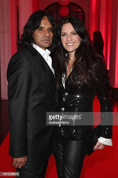 Christine Neubauer and Jose Campos attend the Festival Night by Bunte and BMW at Humboldt Carre on February 8 2013 in Berlin Germany