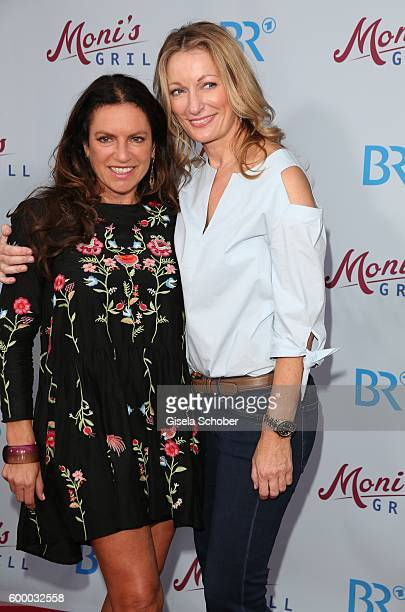 Christine Neubauer and Monika Gruber during the preview for the series 'Moni's Grill' at 'Atelier' cinema on September 7 2016 in Munich Germany