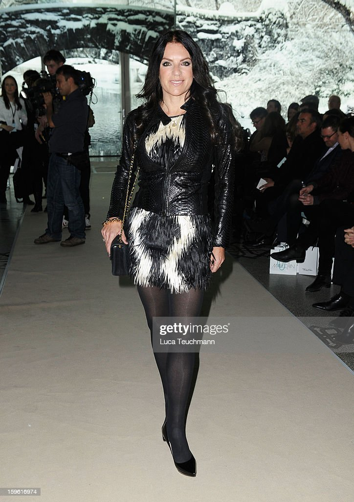 Christine Neubauer attends Marc Cain Autumn/Winter 2013/14 fashion show during Mercedes-Benz Fashion Week Berlin at Hotel de Rome on January 17, 2013 in Berlin, Germany.