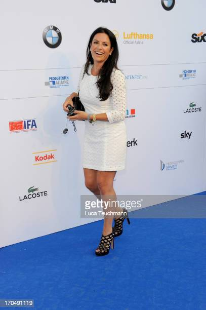 Christine Neubauer attends the producer party 2013 of the German producers alliance at Restaurant Auster on June 13 2013 in Berlin Germany