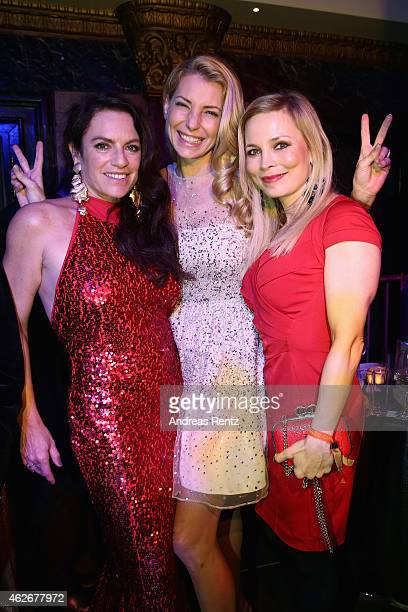 Christine Neubauer Giulia Siegel and Regina Halmich attend the Lambertz Monday Night 2015 at Alter Wartesaal on February 2 2015 in Cologne Germany