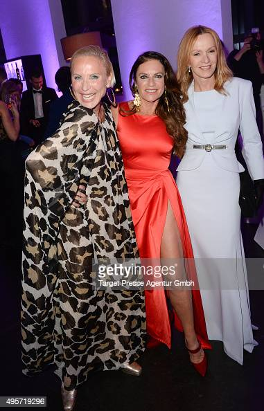 Christine Neubauer Katja Flint and Nadja Michael attend the SPECTRE by ST Dupont launch event on November 4 2015 in Berlin Germany