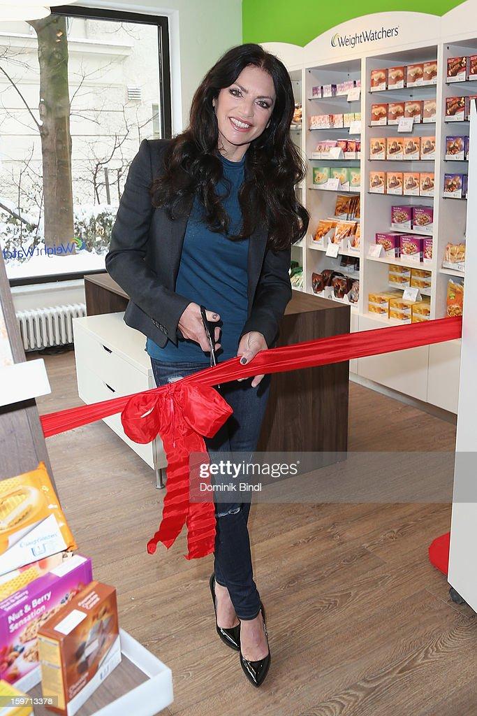 Christine Neubauer Opens Weight Watcher Center on January 19, 2013 in Munich, Germany.