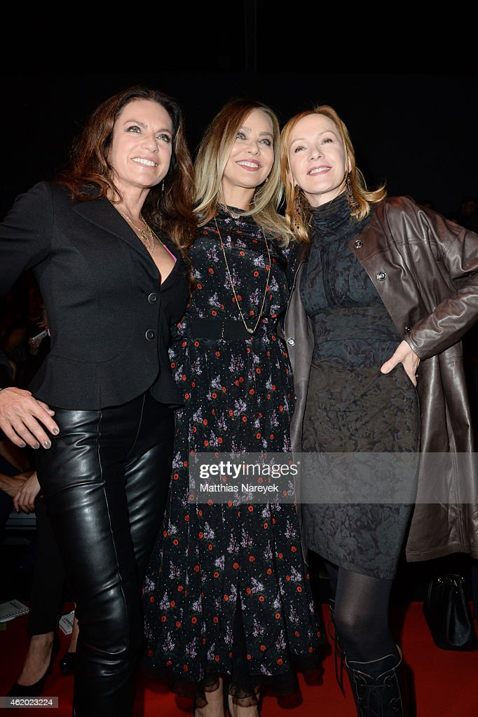 Christine Neubauer Ornella Muti and Katja Flint attend the 'Shop the Runway by Fashion ID' show during the MercedesBenz Fashion Week Berlin...
