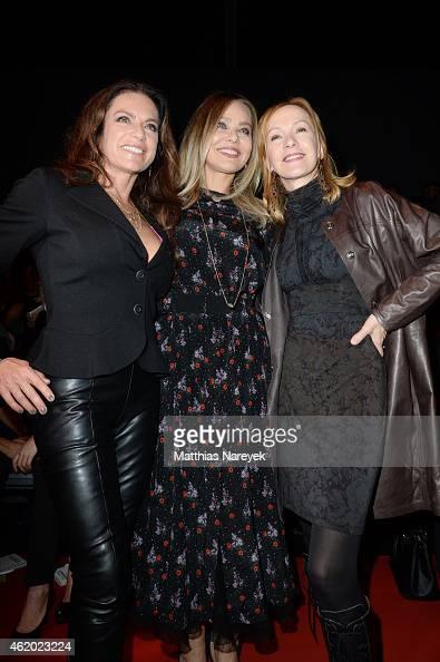 Christine Neubauer Ornella Muti and Katja Flint attend the 'Shop the Runway by Fashion ID' show during the MercedesBenz Fashion Week Berlin...
