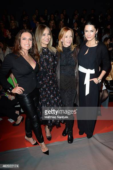 Christine Neubauer Ornella Muti Katja Flint and Mariella Ahrens attend the 'Shop the Runway by FASHION ID' show during the MercedesBenz Fashion Week...