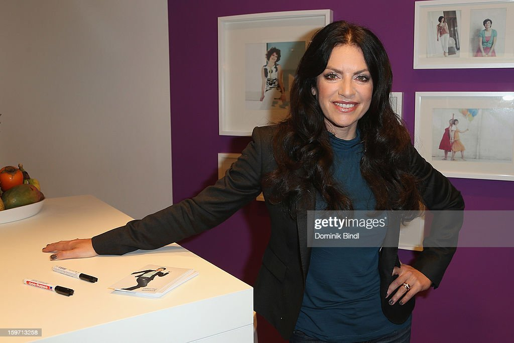 Christine Neubauer poses as she opens Weight Watcher Center on January 19, 2013 in Munich, Germany.