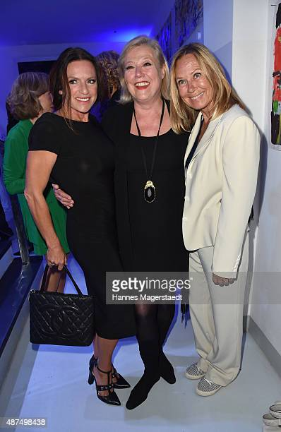 Christine Neubauer Susanne Wiebe and Sybille Beckenbauer during the 'Susanne Wiebe Fashion Art Show' on September 9 2015 in Munich Germany