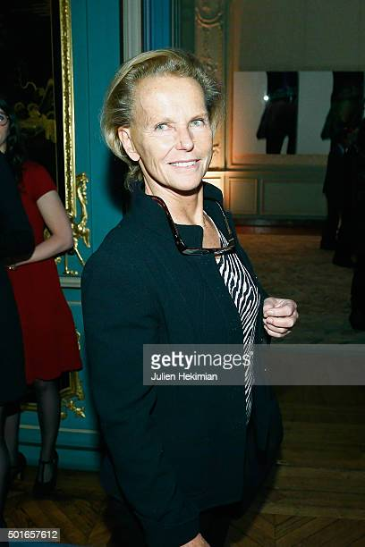 Christine Ockrent attends the annual dinner hosted by US Ambassador Jane Hartley on December 16 2015 in Paris France
