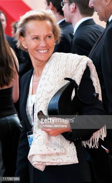 Christine Ockrent during 2004 Cannes Film Festival Edukators Photocall at Palais Du Festival in Cannes France
