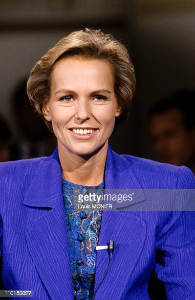 Christine Ockrent journalist in France in September 1986