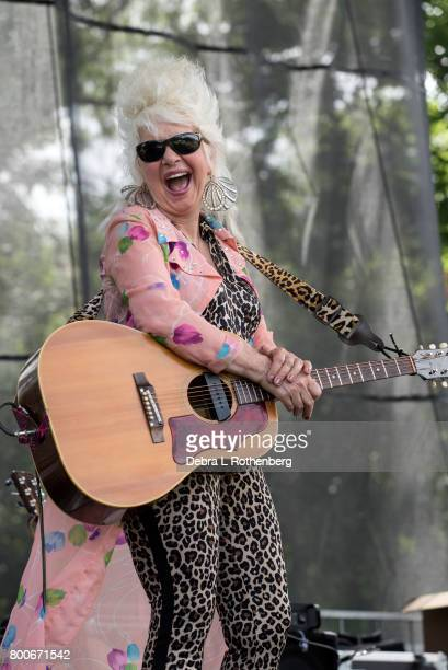 Christine Ohlman performs at the RocklandBergen Music Festival at German Masonic Park on June 24 2017 in Tappan New York