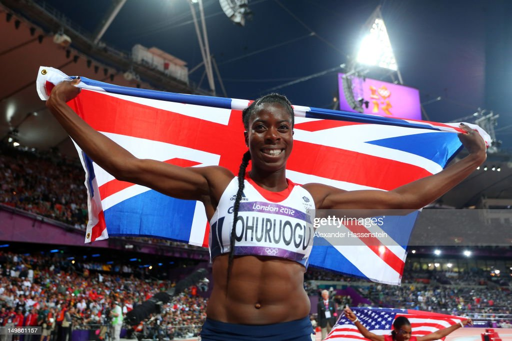 <a gi-track='captionPersonalityLinkClicked' href=/galleries/search?phrase=Christine+Ohuruogu&family=editorial&specificpeople=703549 ng-click='$event.stopPropagation()'>Christine Ohuruogu</a> of Great Britain celebrates winning silver in the Women's 400m Final on Day 9 of the London 2012 Olympic Games at the Olympic Stadium on August 5, 2012 in London, England.