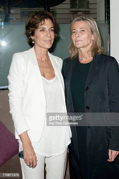 Christine Orban and Claire Chazal attends the 'Prix du Premier Roman de Femme 8eme Edition' during the 'Montalembert Literary Awards 2013' at Hotel...